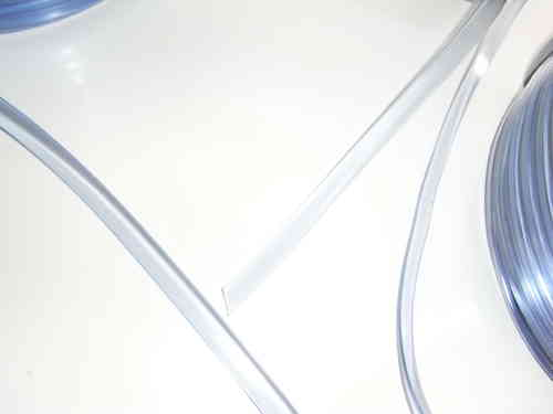 Flachkeder transparent 9 x 3 mm 200 Meter